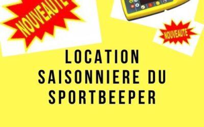 Nouveauté: Location saisonnière du Sportbeeper