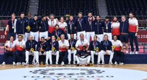 Equipe de France de Handball championne olympique avec Olivier Maurelli